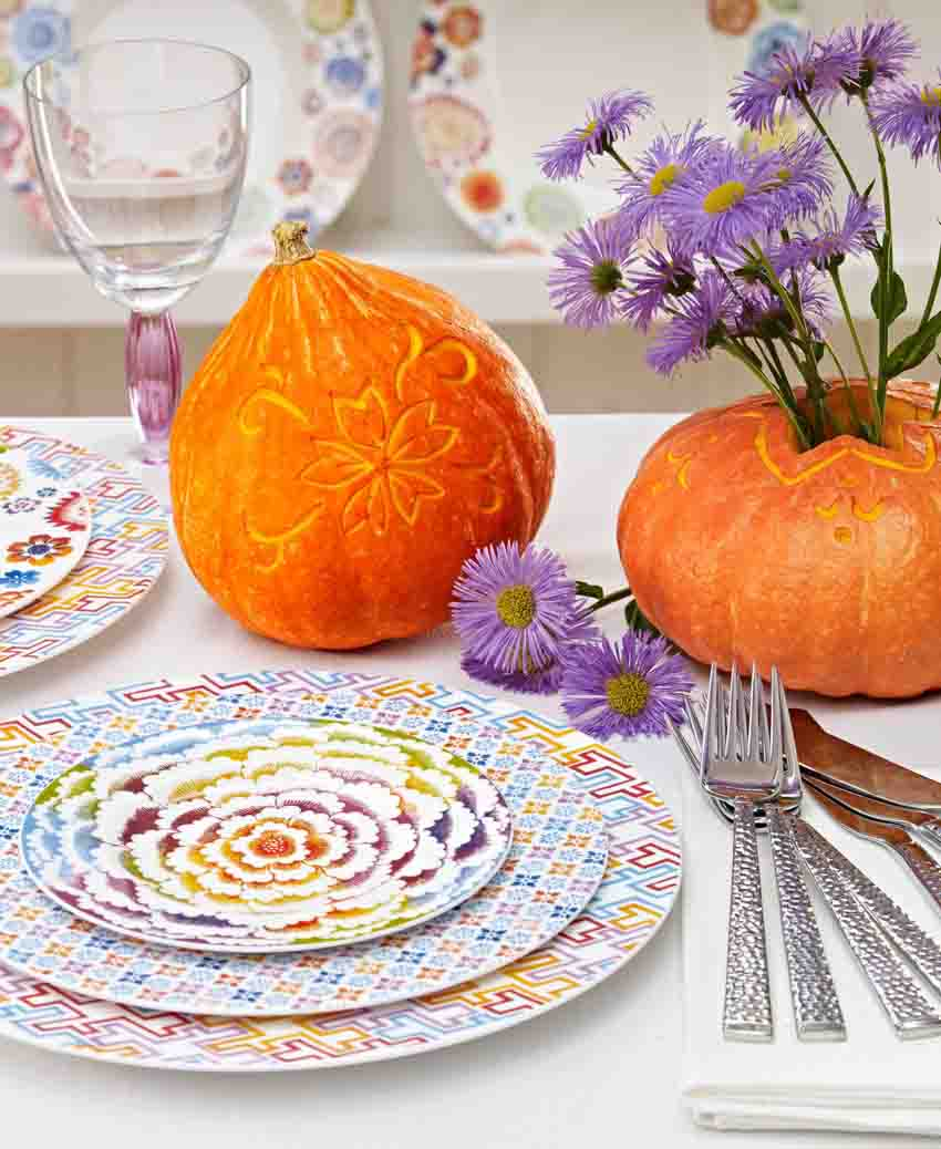 Decorar tu mesa de halloween con calabazas 1748 for Decorar calabazas secas